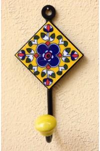 Vintage jednověšák - žlutý, 12 cm
