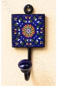 Vintage jednověšák - tm. modrý, 16 cm