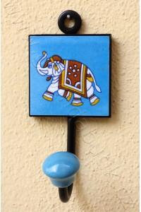 Vintage jednověšák - modrý, 16 cm