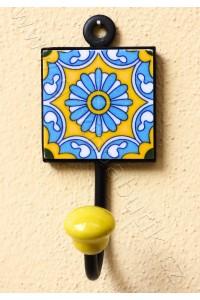 Vintage jednověšák - žlutý, 16 cm