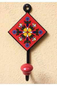 Vintage jednověšák - červený, 12 cm