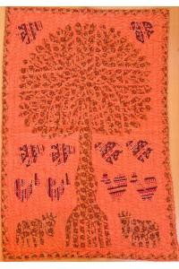 Veselý patchwork – dekorace na stěnu – 84 x 56 cm