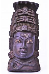 Krásný, dřevěný reliéf Pána Šivy