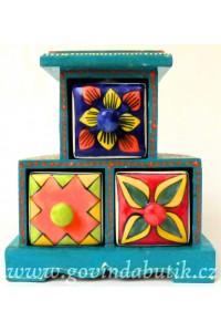 Vintage, ručně malované trojšuplíčky