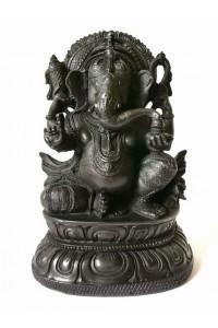 Černá soška Genéše vyrobená z akrylové pryskyřice