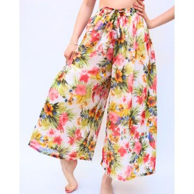 Veselé šifonové kalhoty na léto