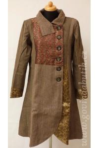 Elegantní kabát - hnědý