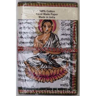 Bílý notes s motivem Buddhy