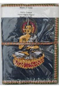 Tmavě modrý notes s motivem Buddhy, dvě velikosti