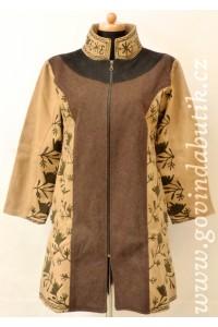Vlněný kabát - hnědý