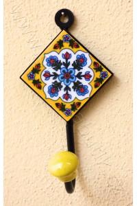 Vintage jednověšák - žlutý, 13,5 cm