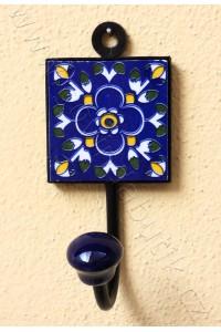 Vintage jednověšák - tm. modrý, 13,5 cm