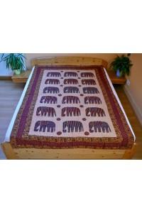 Patchwork jednolůžko – sloni, 155x220 cm