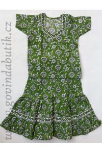 Sukně + kurta, zelená