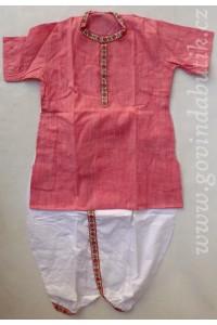 Chlapecké dhótí + kurta , růžová 24