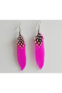 Peříčkové náušnice - růžové