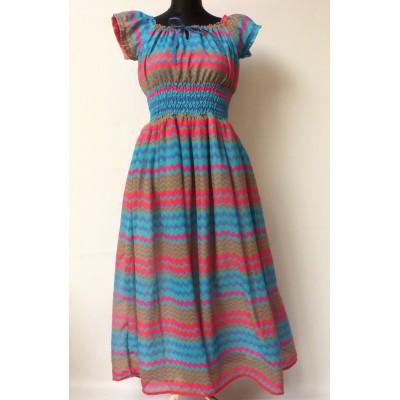 Maxi šaty v retro vzoru