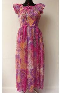 Maxi šaty - růžové