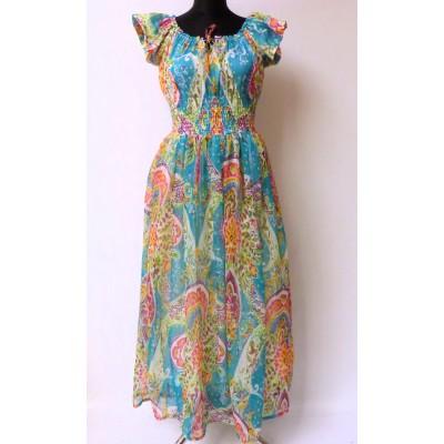 Maxi šaty - zelený tyrkys