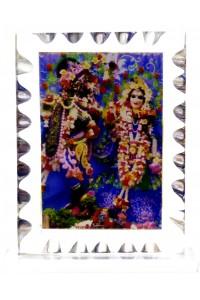 Rádha Krišna božstva - ozdobné, 9x6,5cm
