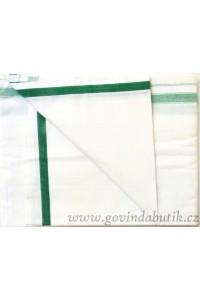 Bavlněný čadar - zelený okraj