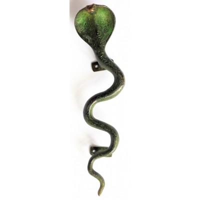 Ozdobná rukojeť na dveře - kobra, větší
