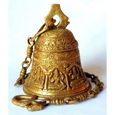 Mosazný zvon s řetězem na zavěšení