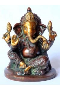 Krásná socha Ganéši, tmavá 2,39 kg