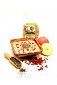 Pohanková kaše s chia, goji a jablky