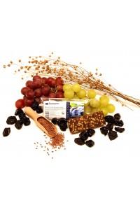 Švestková ovocná svačinka s křupinkami