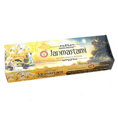Vonné tyčinky Janmastami 200gr,RadhaMadhav