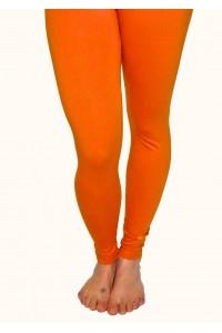 Pohodlné legíny, tmavě oranžové
