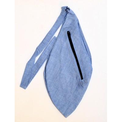 Pánský japa pytlík s kapsičkou, modrý