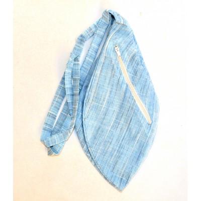 Pánský japa pytlík s kapsičkou, modrý žíhaný