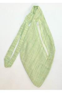 Pánský japa pytlík s kapsičkou, světle zelený, žíhaný