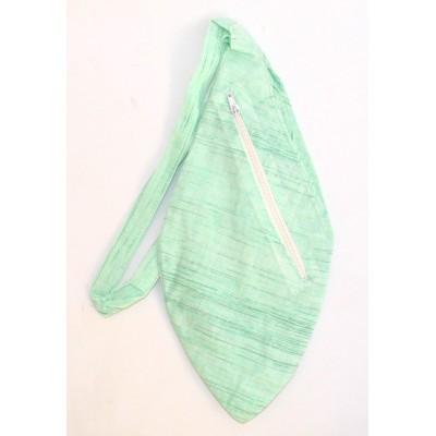 Pánský japa pytlík s kapsičkou, světle zelený mint