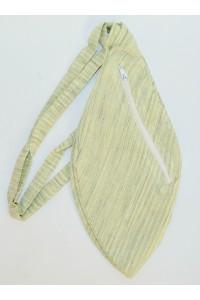 Pánský japa pytlík s kapsičkou, zelený, proužkatý