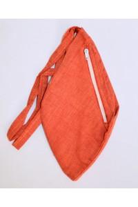 Dámský japa pytlík s kapsičkou, cihlový