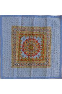 Vyšívaný potah na polštář, modrý