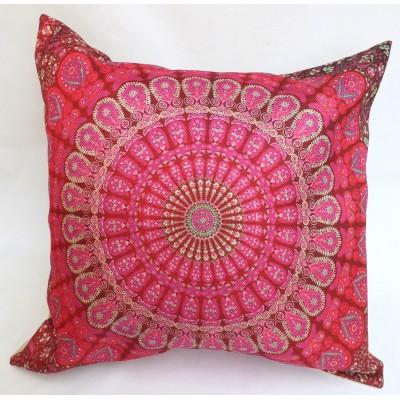 Povlak na polštář, 40x40 cm, růžová mandala