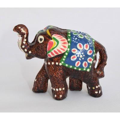 Malovaný slon - tmavě měděný, ve 3.velikostech