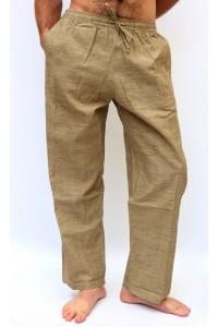 Pohodlné pánské kalhoty - hnědé, vel.M, XL
