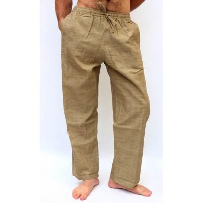 Pohodlné pánské kalhoty - hnědé, vel.M,L,XL,XXL