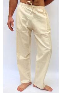 Pohodlné pánské kalhoty - světle krémové, vel. L,XL,XXL