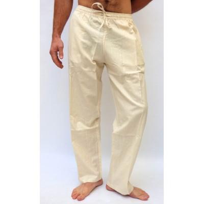 Pohodlné pánské kalhoty - světle krémové, vel.M,L,XL,XXL