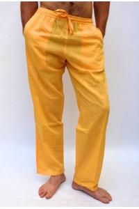 Pohodlné pánské kalhoty - žluté, vel.M,L,XL