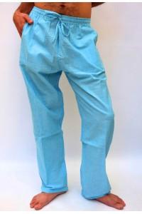 Pohodlné pánské kalhoty - světle modré, vel.XL