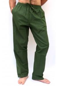 Pohodlné pánské kalhoty - tmavě zelené, vel.M,XL