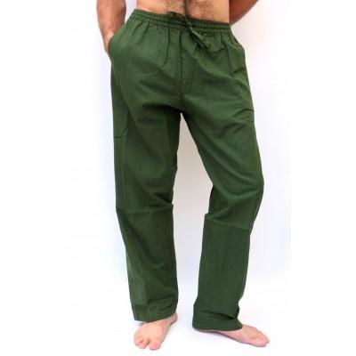 Pohodlné pánské kalhoty - tmavě zelené, vel.M,L,XL