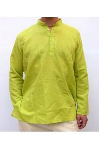 Pánská bavlněná košile, světle zelená, vel.M
